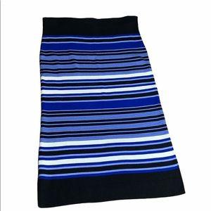 Lauren Ralph Lauren Knit Stripped Maxi Skirt XXL